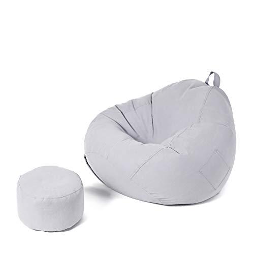SD Pouf Poire/canapé/Grande Fauteuil/Bean Bag Chaise/avec Repose-Pied/Trois Poches/1 Poches/avec Poignée/pour Enfants Et Adultes/110 * 130 cm