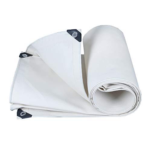 SJSF Y Exteriores Impermeable Lona Blanca Lona para Servicio Pesado Cubierta para Techo Cubierta para Lluvia para jardín Lona Resistente a los Rayos UV, 500 g/m², Espesor 0,8 mm, 20 tamaño,2x2.5m