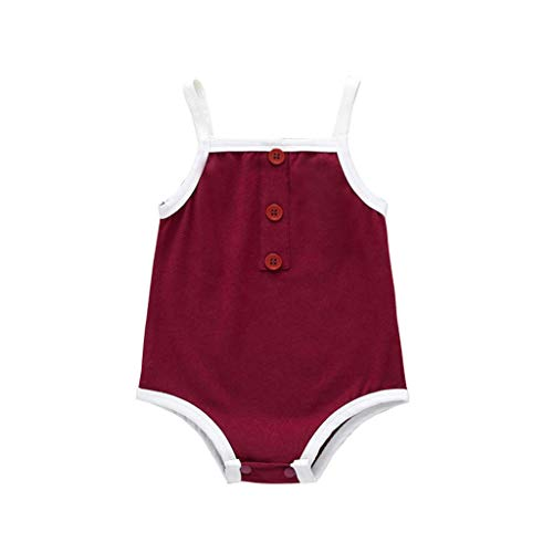 Goldweather Newborn Baby Boys Girls Sleeveless Bodysuits Denim Ruffles Floral Romper Onesie Sunsuit