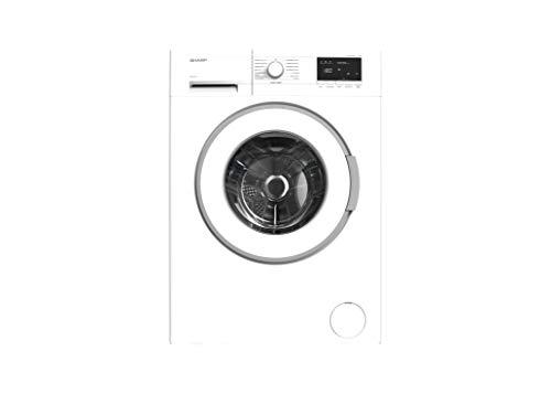 Sharp ES-HFB714AWA-DE Waschmaschine Frontlader/C / 7 kg / 1400 U/min/Advanced Inverter Motor/Allergy Smart / 15 Programme inkl. 15 min Kurzprogramm/AquaStop/Weiß