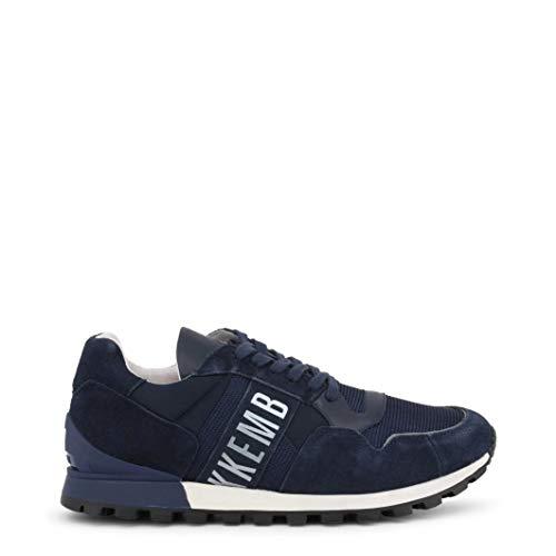 Bikkembergs Sneakers Uomo Tessuto camoscio Blu Scuro Logo Bianco. cod. BKE109295 Taglia 42