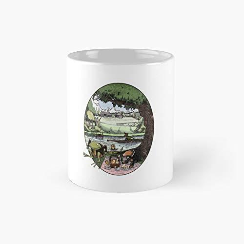 Taza clásica Wind in The Willows mejor regalo divertidas tazas de café 11 oz