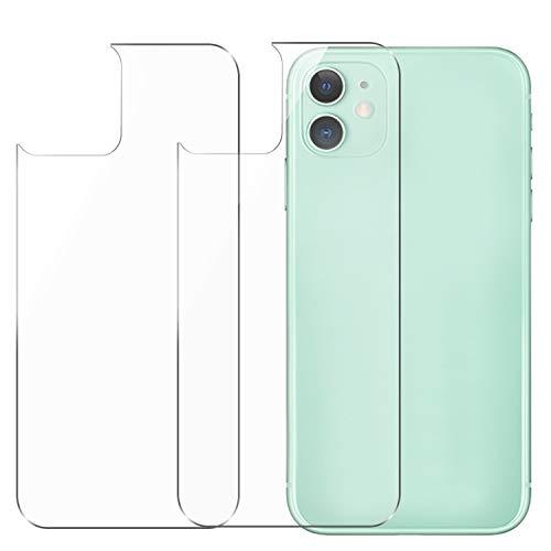 Conleke Displayschutzfolie für iPhone 11 [2er-Pack], Rückseite aus gehärtetem Glas [3D Touch] Temperglas Film Anti-Fingerabdruck/Kratzer, kompatibel mit iPhone 11 (2 Rückseite, 15,5 cm, 2019)