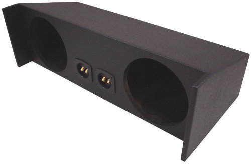 """American Sound Connection Compatible with Jeep Wrangler YJ & TJ 1987-2006 Dual 10"""" Subwoofer Speaker Box Enclosure - Armor Coated"""
