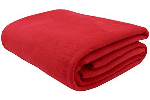 ZOLLNER Wolldecke rot 150 x 200 cm (weitere Farben, Größen), Baumwollanteil