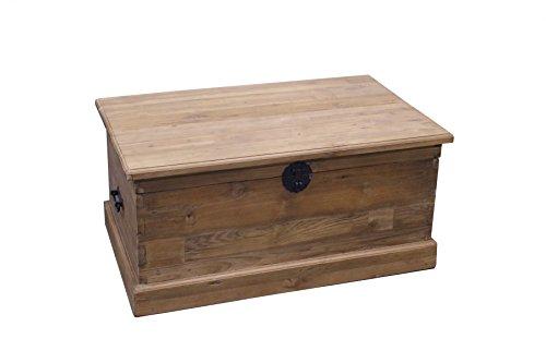 Teak TRUHE Mittel SE78-3 Teakholz Antik Massiv Wäschetruhe Kiste Schatztruhe