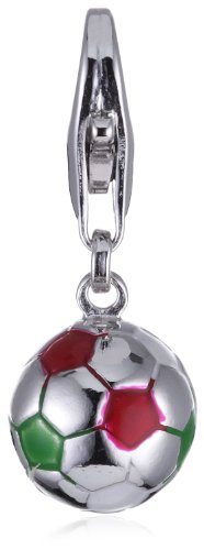 ESPRIT Charm Football RED/White/Green 925 Sterling Silber S.ESZZ90466E000