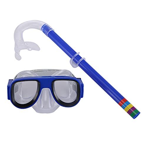 AIHOME Juego de esnórquel para niños, máscara antiniebla, gafas de natación para niños, equipo de buceo con tubo de respiración para jóvenes y niñas, niños