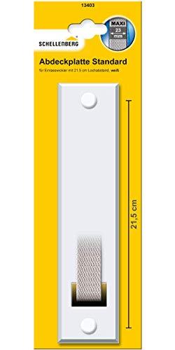 Schellenberg 13403 Abdeckplatte Gurtwicklerblende Lochabstand 21.5 cm, Blende für Gurtwickler