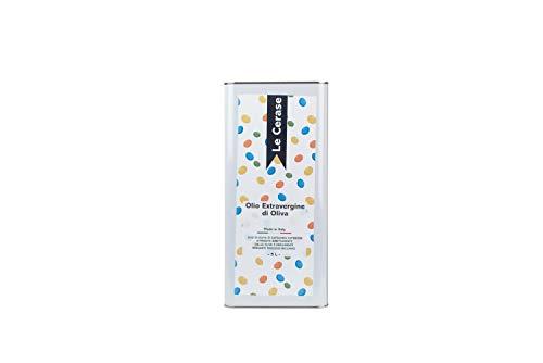 Olio Extravergine Di Oliva Italiano 5 Litri Blend varietà CORATINA e CIMA DI MELFI raccolto 2019 - 100% Olio Evo gusto intenso e fruttato
