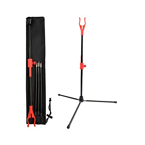 Yls Archery Bow Stand Recurve Bow Compound Bow Stand Rack Holder Legs 18.9' Height Red OR Pink Color