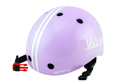Vola 50 Brn, Casco Ciclista Infantil, 170gr, Morado, XXS 44-48cm