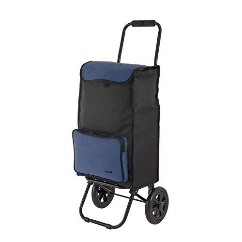 Rada Einkaufstrolley ER/1 40 Liter, robuster Marktroller, Einkaufswagen, Handwagen, mit 2 Rollen, wasserabweisender Transportwagen mit großen Rädern, (Blue 2 Tone Cognac)