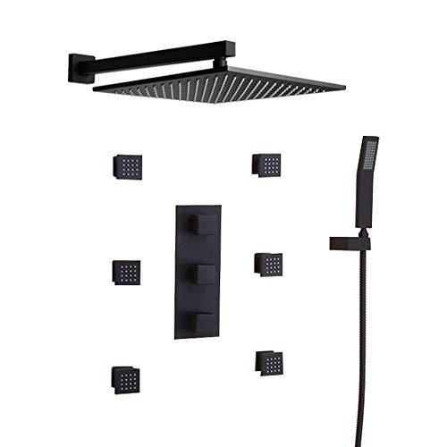 JiaYouJia 12'' Wall Mounted Rain Shower System 3-Function...