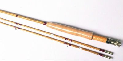 """Zhu Bamboo Fly Rod,2 Piece 2 Tips,7'6"""" for #5 Line Wt"""