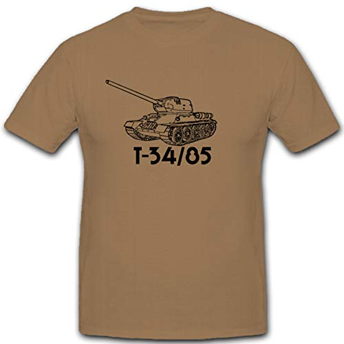 Copytec T34–85Tanque Tanque Ruso Rusia Soviética de cañón–Camiseta # 4821