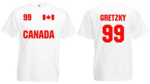 world-of-shirt Herren T-Shirt Canada/Kanada Gretzky 99 Trikot