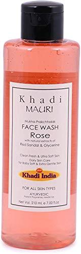 Glamorous Hub Khadi Mauri Herbals Rose Herbal Face Wash 210Ml (L'imballaggio può variare)