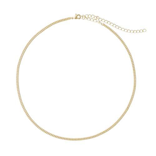 HONEYCAT Cadena de Bolas de Doble-Gargantilla Collar en Oro 24k Placa, Placa de Oro Rosa de 18 Quilates, o rodio Placa | Minimalista, de joyería Delicado (Oro)