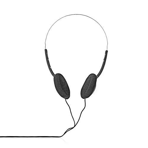 NEDIS On-Ear-Kopfhörer mit Kabel   3.5 mm   Seillänge: 6.00 m   Schwarz 6.00 m Schwarz