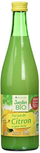 Jardin BiO étic Pur jus de Citron - 50 cl - lot de 6 ( 50 X 6 = 300 CL)