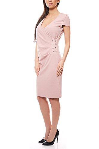 ashley brooke by heine Kleid Etuikleid Jerseykleid Abendkleid Rosa, Größenauswahl:40