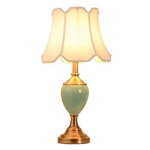 lámpara de mesa American Creative Ceramic Table Lamp Dormitorio Lámpara de cabecera Estudio en casa Salón Lámpara de mesa Cuatro modos de interruptor Múltiples estilos disponibles Lámpara Noche
