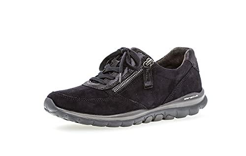 Gabor Damen Low-Top Sneaker, Frauen Sneaker Low,Women's,Woman,Lady,Ladies,Halbschuhe,straßenschuhe,Strassenschuhe,Sportschuhe,Pazifik,35.5 EU / 3 UK