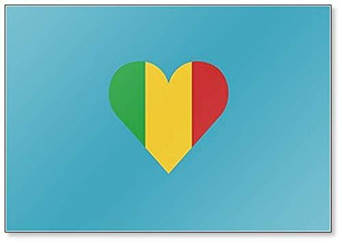 Kühlschrankmagnet Mali Flagge in Herzform