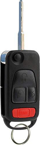 KeylessOption Keyless Entry Remote Flip Key Fob Transmitter for Mercedes Benz