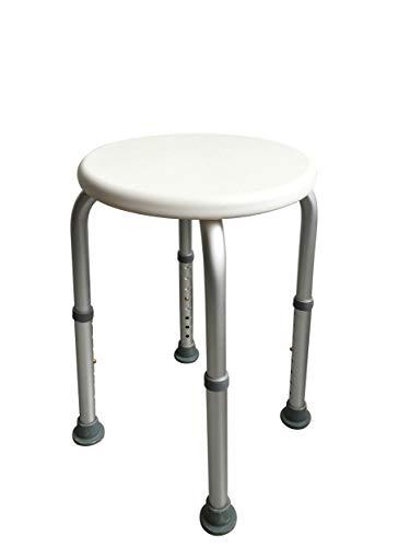 ABO Gear Bath Bench Adjustable Shower Chair Shower Bench Seat Stool, White, Round