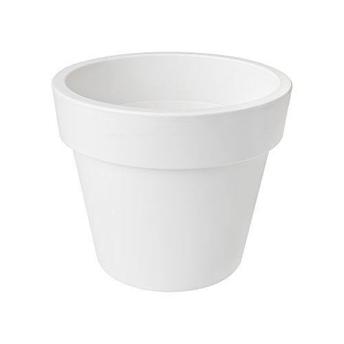 Elho Green Basics Vaso Di Giardino, White, 30 Cm