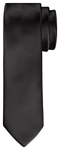 BomGuard 6cm herren-krawatte schwarz glänzend schmale breite weihnachten seide damen männer frauen