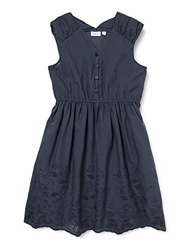 NAME IT Mädchen NKFFRODA Spencer Kinderkleid, Dark Sapphire, 146
