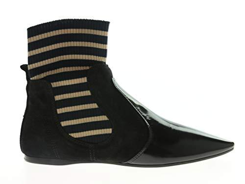 ACNE STUDIOS Amalee AW17 Damen-Schuhe Stiefelette Schwarz-Gold Leder, Größe:36, Farbe:Schwarz Gold