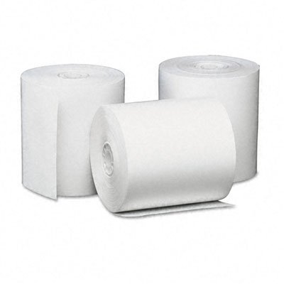 Universal 35763 Single-Ply Thermal Paper Rolls, 3 1/8