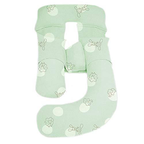 Coussin De Maternité Grossesse Grand oreiller de grossesse complet, oreiller de maternité en forme de G pour femmes enceintes et maux de dos, avec couvercle de fermeture à glissière lavable Coussin Al