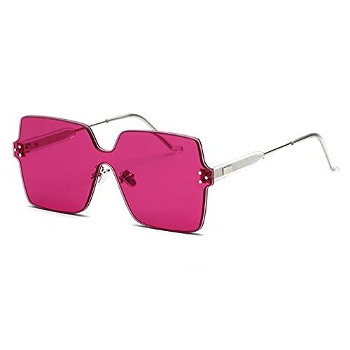HQPCAHL Gafas De Sol Cuadradas De Gran Tamaño para Mujer Tonos De Moda con Parte Superior Plana,A