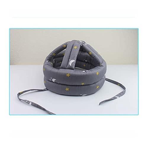 RTYG Sombrero de la Cabeza Ajustable del Casco de protección contra choques 360 ° Protección Integral Elder Cap Este Producto Tiene una absorción de Impactos y amortiguación de Choque (Color : Gray)