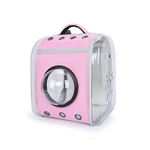 JIAAN Pet Bag 1 Pieces Dog Cat Carrier Bag Pet Carrier,Pet Parrot Bird Carrier Travel Bag Space Capsule Transparent Cover Backpack Breathable,Backpack Pet Carrier