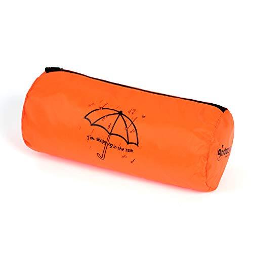 Andersen Regencape für alle Shopper Einkaufstaschen, orange, mit Reflektorstreifen