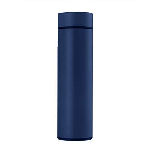 YUWEX 500ml Edelstahl Thermosflasche LCD Touchscreen Temperaturanzeige Intelligente Thermokanne Vakuumisolierte Batterieversorgung Doppelwandige Trinkflasche
