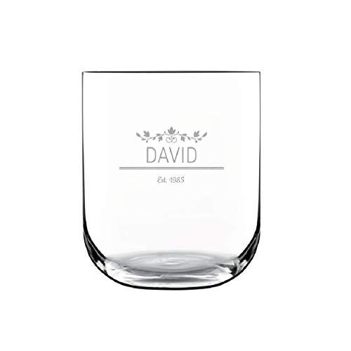 YourSurprise Wasserglas mit Gravur - edles wasserglas graviert mit Namen (1)