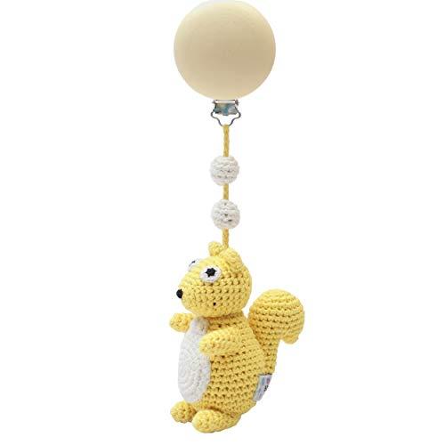 natureZOO Colgante para cochecito de bebé (ardilla amarilla)