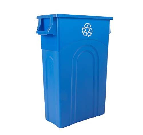 United Solutions TI0033 Highboy Recycling Container 23 Gallon 1Pack Blue