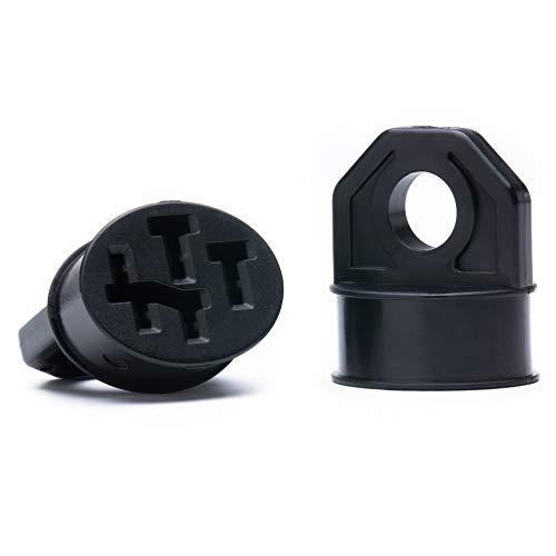 Wheeloo Kontaktschutz Abdeckung 2er Set für E-Bike Akku von Bosch - Ebike Kontakt Pin für Schutz vor Regen, Schmutz, Verbiegen