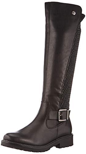 Remonte Damen R6577 Hohe Stiefel, Schwarz (Schwarz/Black/Schwarz 01), 44 EU