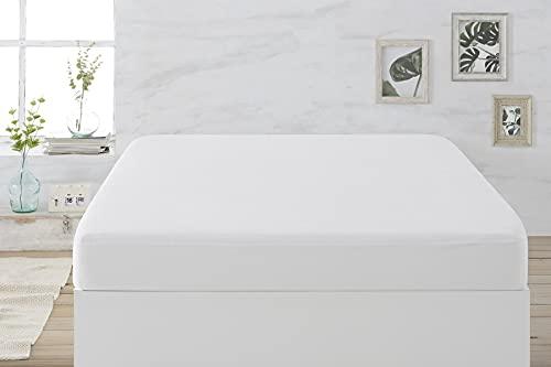 Easycosy - Protector de Colchón Impermeable Dreams - Cubre Colchón Rizo Transpirable Cama 180cm (180x190/200cm) - Color Blanco