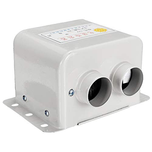 12V JenNiFer 12V 24V 48V 800W 2 Agujeros El/éctrico Coche Calentador Desfroster con Protecci/ón contra Fugas Interruptor De Alta Potencia