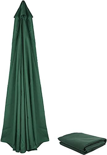 Dulcicasa Telo di ricambio per ombrellone da 3 m / 8 bracci, copertura di ricambio per ombrellone da giardino, cortile, piscina (verde)